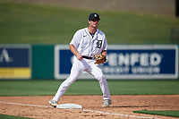 Detroit Tigers third baseman Colt Keith (4) during a Florida Instructional League game against the Pittsburgh Pirates on October 16, 2020 at Joker Marchant Stadium in Lakeland, Florida.  (Mike Janes/Four Seam Images)