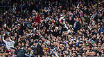 Soccer fans celebrate Cristiano Ronaldo of Real Madrid's second goal for the team during the UEFA Champions League 2017-18 Round of 16 (1st leg) match between Real Madrid vs Paris Saint Germain at Estadio Santiago Bernabeu on February 14 2018 in Madrid, Spain. Photo by Diego Souto / Power Sport Images