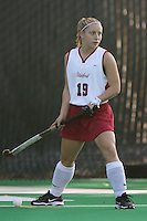 6 November 2007: Stanford Cardinal Marlana Shile during Stanford's 1-0 win against the Lock Haven Lady Eagles in an NCAA play-in game to advance to the NCAA tournament at the Varsity Field Hockey Turf in Stanford, CA.