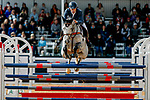 October 17, 2021: Astier Nicolas (FRA), aboard Babylon de Gamma, competes during the Stadium Jumping Final at the 5* level during the Maryland Five-Star at the Fair Hill Special Event Zone in Fair Hill, Maryland on October 17, 2021. Jon Durr/Eclipse Sportswire/CSM
