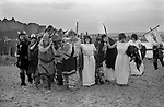 Isle of Man, Peel 1970s. The annual Viking Festival annually in July. 1978.