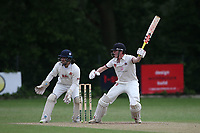 G Balmford hits 4 runs for  Brentwood during Wanstead and Snaresbrook CC (fielding) vs Brentwood CC, Hamro Foundation Essex League Cricket at Overton Drive on 19th June 2021