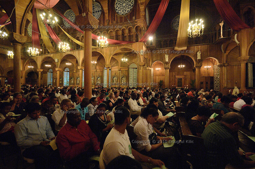 Christmas mass at ST. Petrus and Paulus Cathedral (AKA World's largest wooden cathedral)