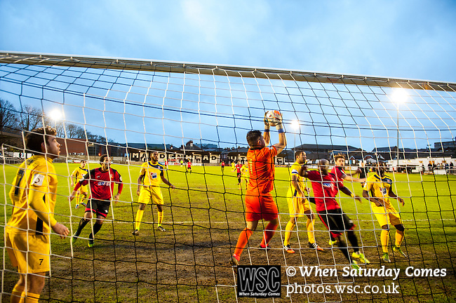 Hayes & Yeading Utd 2<br /> Eastbourne Borough 2, 29/11/2015. York Road, FA Trophy, 1st round. Photo by Simon Gill