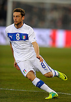 Claudio Marchisio (ITA), during the friendly match Italy against USA at the Stadium Luigi Ferraris at Genova Italy on february the 29th, 2012.