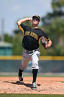 Pittsburgh Pirates pitcher Billy Roth (7) during a minor league spring training game against the New York Yankees on March 22, 2014 at Pirate City in Bradenton, Florida.  (Mike Janes/Four Seam Images)