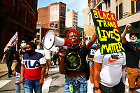 A youth led march against police brutality and environmental racism takes place downtown where they marched from the City County Building and throughout the city on Tuesday June 16, 2020 in Pittsburgh, Pennsylvania. (Photo by Jared Wickerham/Pittsburgh City Paper)