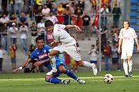Selim Teber (Hoffenheim) gegen Baris Oezbek (Galatasaray)<br /> TSG 1899 Hoffenheim vs. Galatasaray Istanbul, Carl-Benz Stadion Mannheim<br /> *** Local Caption *** Foto ist honorarpflichtig! zzgl. gesetzl. MwSt. Auf Anfrage in hoeherer Qualitaet/Aufloesung. Belegexemplar an: Marc Schueler, Am Ziegelfalltor 4, 64625 Bensheim, Tel. +49 (0) 6251 86 96 134, www.gameday-mediaservices.de. Email: marc.schueler@gameday-mediaservices.de, Bankverbindung: Volksbank Bergstrasse, Kto.: 151297, BLZ: 50960101