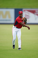GCL Nationals Jaylen Hubbard (13) during warmups before a Gulf Coast League game against the GCL Mets on August 12, 2019 at FITTEAM Ballpark of the Palm Beaches in Palm Beach, Florida.  GCL Nationals defeated the GCL Mets 7-3.  (Mike Janes/Four Seam Images)