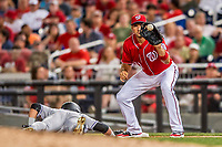 29 July 2017: Washington Nationals first baseman Ryan Zimmerman in action against the Colorado Rockies at Nationals Park in Washington, DC. The Rockies defeated the Nationals 4-2 in the first game of their 3-game weekend series. Mandatory Credit: Ed Wolfstein Photo *** RAW (NEF) Image File Available ***