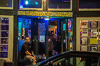 French Quarter, New Orleans, Louisiana.  The Spotted Cat Music Club, a popular night spot.