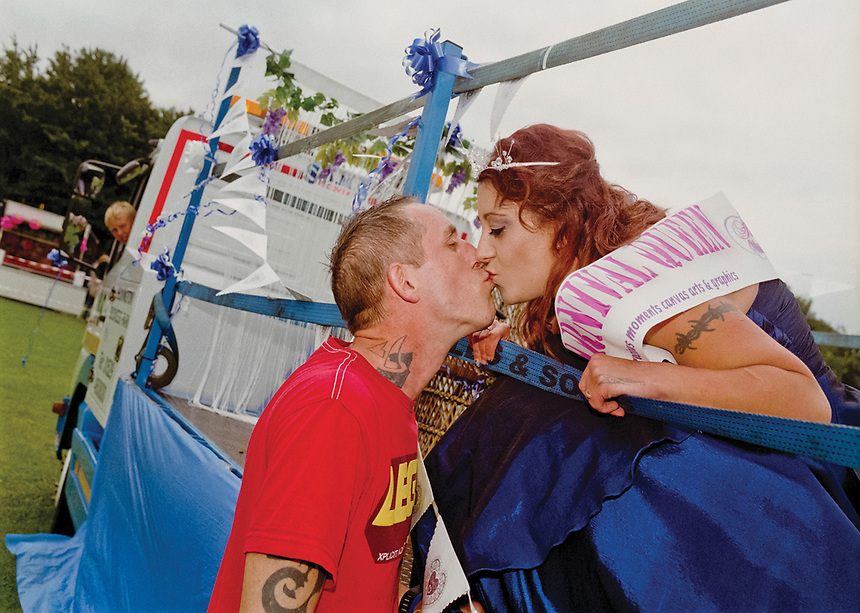 """Nightrose Bridal Queen of Sleaford, Sara Brown<br /> escorted by Mr Jaygeb Brown.<br /> <br /> """"The people of Sleaford did us proud once again."""""""