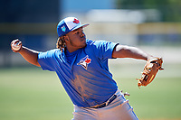 Toronto Blue Jays Vladimir Guerrero Jr. (6) during a Minor League Spring Training intrasquad game on March 14, 2018 at Englebert Complex in Dunedin, Florida.  (Mike Janes/Four Seam Images)