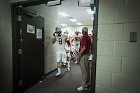 TEMPE, AZ - November 13, 2010: Team during a football game at Arizona State University in Tempe, Arizona. Stanford won 17-13.