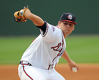 Chris Masters of the Rome Braves was the starting pitcher for the south at the 2010 South Atlantic League All-Star Game on Tuesday, June 22, 2010, at Fluor Field at the West End in Greenville, S.C. Photo by: Tom Priddy/Four Seam Images