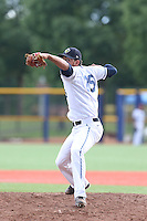 Ariel Hernandez (25) of the Hillsboro Hops pitches during a game against the Salem-Keizer Volcanoes at Ron Tonkin Field on July 26, 2015 in Hillsboro, Oregon. Hillsboro defeated Salem-Keizer, 4-3. (Larry Goren/Four Seam Images)