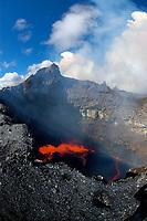 The large East Pond vent inside of Puu Oo vent Hawaii, USA Volcanoes National Park The Big Island of Hawaii, USA