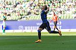 19.09.2020, wohninvest Weserstadion, Bremen, GER,  SV Werder Bremen vs Hertha BSC Berlin, <br /> <br /> <br />  im Bild<br /> <br /> 0:1 durch Peter Pekarík / Pekarik (Hertha BSC #02) gegen Jiri Pavlenka (Werder Bremen #01)<br /> <br /> Jubel nach dem Tor zum 0:1<br /> <br /> Foto © nordphoto / Kokenge<br /> <br /> DFL regulations prohibit any use of photographs as image sequences and/or quasi-video.