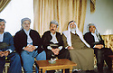 Iraq 2005 <br /> On December 17th, Tahcine Beg, the Yezidi prince, welcoming in his house Serdar and Serhat Anwar Beg and Lezgin Agha, 4th from right  <br /> Irak 2005 <br /> Le 17 decembre, Tahcine Beg recevant chez lui Serdar et Serhat Anwar Beg  et le 4 eme a droite,Lezgin Agha