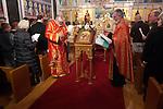 Christmas Eve Vigil Service, St. Sava Serbian Orthodox Church, Jackson, Calif...Fr. Deacon Trivas and Fr. Steve read as all celebrate the Vigil for the birth of Jesus