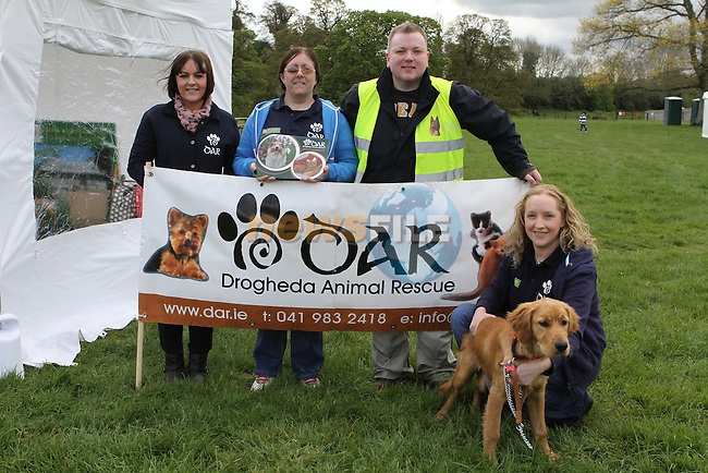 Lorraine Weymes, Linda O'Driscoll, Peter Walsh, Fiona Lee-Gargan and Kerbey the Dog at the Country Fair at Oldbridge House...(Photo Jenny Matthews/www.golffile.ie)