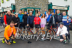 The cyclists who completed their cycle from  castlebar Co Mayo to The Castle Bar, Rock Street, Tralee on Saturday to raise funds for Kerry Hospice Foundation. Derek Donohue, John Joe Sheehy, Ronan Shanahan, Mark Sheehy, Gavin Duffy, William Crean, Muireann Dowling, Joseph Grace, Aisling O'Brien, Mike Quilter, Michael Ferrister, Donal Lyons, Eamon Sayers and John Dennis.