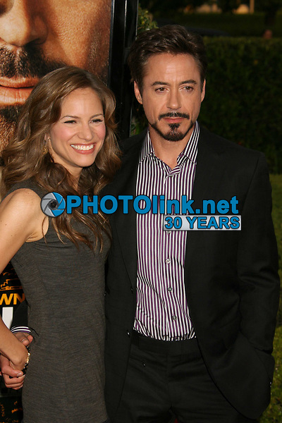 Robert Downey Jr. and Susan Levin, 4-20-2009 Photo By John Barrett/PHOTOlink