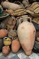 Tripoli, Libya - Amphora, Antique Pottery in the Medina (Old City).