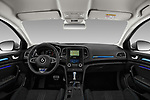 Stock photo of straight dashboard view of a 2017 Renault Megane GT 5 Door Hatchback