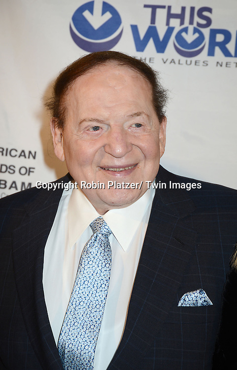 Sheldon Adelson  attends the Inaugural Champion of Jewish Values International Awards Gala on June 4, 2013 at the Marriott Marquis Hotel in New York City. Sheldon Adelson, Mrs Miriam Adelson and Dr Mehmet Oz were honored.