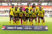HOUSTON, TX - JUNE 10: Jamaica poses for a starting XI photo before a game between Nigeria and Jamaica at BBVA Stadium on June 10, 2021 in Houston, Texas.