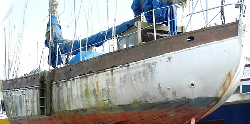 Nancy Bet in Crosshaven Boatyard