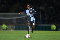 Jason Banton of Wycombe Wanderers on the ball during the Capital One Cup match between Wycombe Wanderers and Fulham at Adams Park, High Wycombe, England on 11 August 2015. Photo by Andy Rowland.