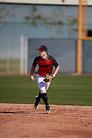 Brayden Rowe (11) of Corner High School in Warrior, Alabama during the Baseball Factory All-America Pre-Season Tournament, powered by Under Armour, on January 13, 2018 at Sloan Park Complex in Mesa, Arizona.  (Mike Janes/Four Seam Images)
