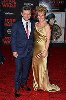 """Andy Serkis & Lorraine Ashbourne  at the world premiere for """"Star Wars: The Last Jedi"""" at the Shrine Auditorium. Los Angeles, USA 09 December  2017<br /> Picture: Paul Smith/Featureflash/SilverHub 0208 004 5359 sales@silverhubmedia.com"""