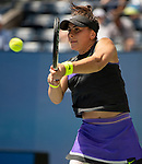 August 31,2019:  Bianca Andreescu (CAN) defeated Caroline Wozniacki (DEN) 6-4, 6-4, at the US Open being played at Billie Jean King National Tennis Center in Flushing, Queens, NY.  ©Jo Becktold/CSM
