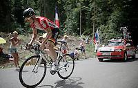 André Greipel (DEU/Lotto-Soudal) coming up<br /> <br /> Stage 18 (ITT) - Sallanches › Megève (17km)<br /> 103rd Tour de France 2016