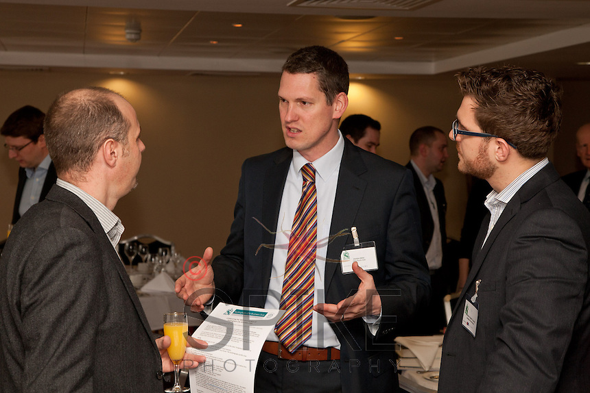 Pictured from left are Simon Mosey of the Haydn Green Institute, Sheldon Miller of John Pye & Sons and Jonathan English of Skeleton Productions