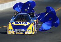 Jul. 26, 2014; Sonoma, CA, USA; NHRA funny car driver Ron Capps during qualifying for the Sonoma Nationals at Sonoma Raceway. Mandatory Credit: Mark J. Rebilas-