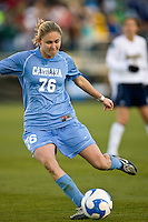 North Carolina Tar Heels midfielder Ali Hawkins (76). The North Carolina Tar Heels defeated the Notre Dame Fighting Irish 2-1 during the finals of the NCAA Women's College Cup at Wakemed Soccer Park in Cary, NC, on December 7, 2008. Photo by Howard C. Smith/isiphotos.com