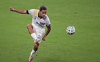 LOS ANGELES, CA - SEPTEMBER 13: Pablo Bonilla #28 of the Portland Timbers traps a ball during a game between Portland Timbers and Los Angeles FC at Banc of California stadium on September 13, 2020 in Los Angeles, California.