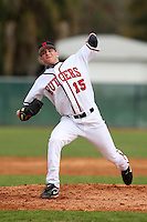 February 27, 2010:  Pitcher Rob Smorol of the Rutgers Scarlet Knights during the Big East/Big 10 Challenge at Raymond Naimoli Complex in St. Petersburg, FL.  Photo By Mike Janes/Four Seam Images