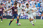 Eibar's Dani Garcia and Real Madrid's Marco Asensio during the match of La Liga between Real Madrid and SD Eibar at Santiago Bernabeu Stadium in Madrid. October 02, 2016. (ALTERPHOTOS/Rodrigo Jimenez)