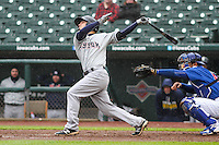 Colorado Springs Sky Sox second baseman Nate Orf (6) swings during a Pacific Coast League game against the Iowa Cubs on May 1st, 2016 at Principal Park in Des Moines, Iowa.  Colorado Springs defeated Iowa 4-3. (Brad Krause/Four Seam Images)