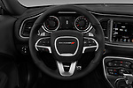 Car pictures of steering wheel view of a 2016 Dodge Challenger Scat-Pack 2 Door Coupe Steering Wheel