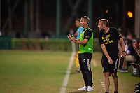 LAKE BUENA VISTA, FL - JULY 16: Caleb Porter Head Coach of the Columbus Crew during a game between New York Red Bulls and Columbus Crew at Wide World of Sports on July 16, 2020 in Lake Buena Vista, Florida.