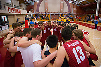 STANFORD, CA - March 10, 2018: Huddle at Burnham Pavilion. UC Irvine defeated the Stanford Cardinal, 3-0.
