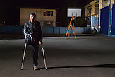 Doboj. Since 1992 more than 8.350 people have been killed or injured by landmines or UXO's. Ljubomir Blagojevic, 56, was injured in 1992 in a landmine incident while serving in the Army of Republika Srpska.