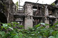 Philippines, Manila, 5 march, 2008..Remnants of San Ignacio Church in Intramuros the oldest district of the city of Manila...Resten van de San Ignacio Kerk in Intramuros, het oudste district van Manila, de hoofdstad van de Filippijnen...Photo Kees Metselaar