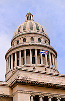Havana capitol city of Cuba  with capital building dome with government building